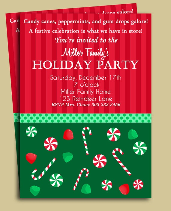 Christmas Party Invitation Quotes: Items Similar To Christmas Party Invitation Printable