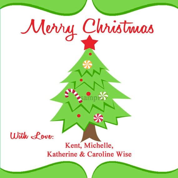 Printable Personalized Christmas Gift Tags