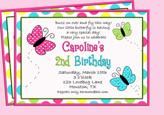 Butterfly Birthday Invitation Wording was nice invitation template