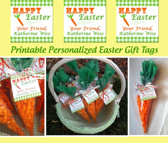 Items Similar To Personalized Easter Tags Printable