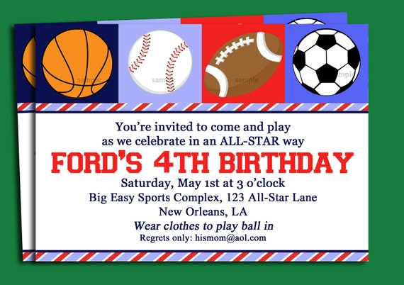 Mesmerizing image throughout free printable sports birthday invitations
