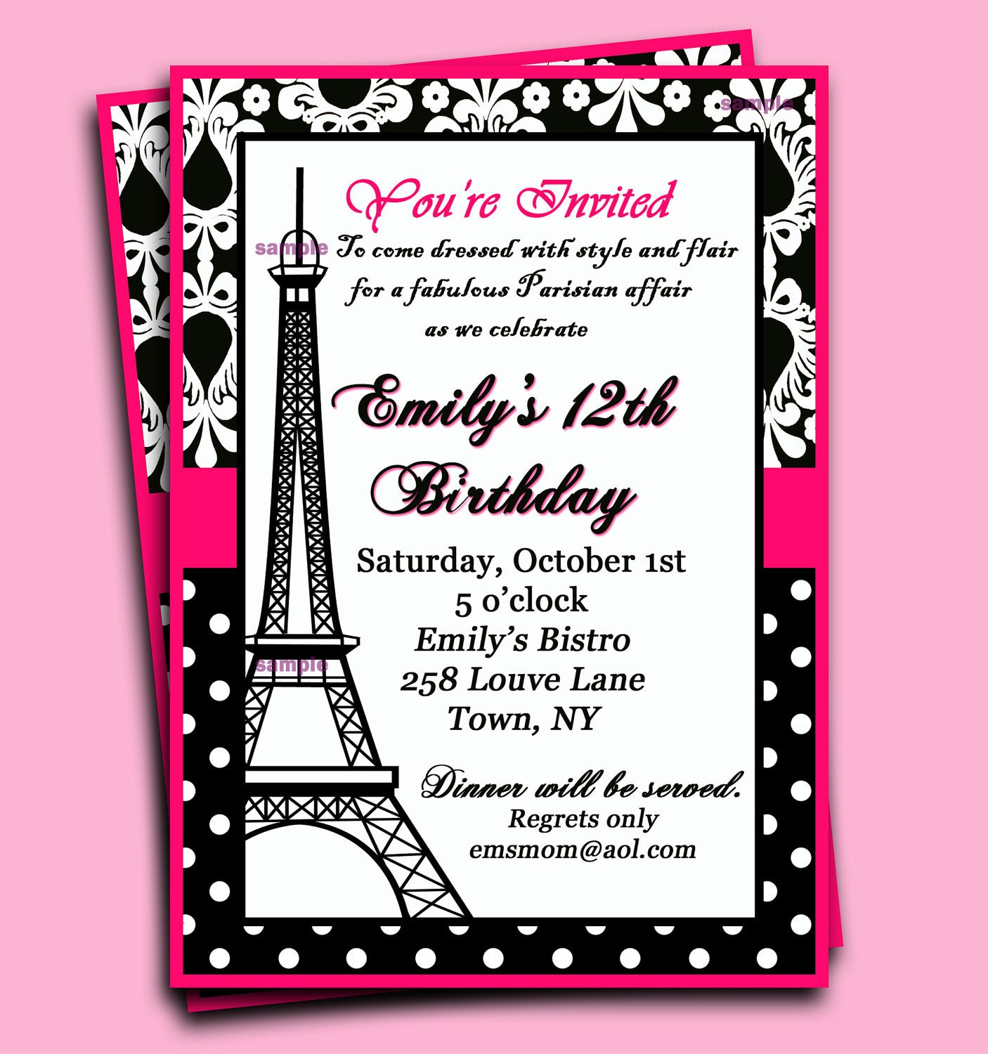 Paris Themed Birthday Invitations absolutely amazing ideas for your invitation example