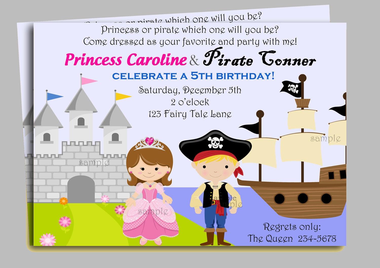 free printable princess pirate invitations - 28 images - free ...