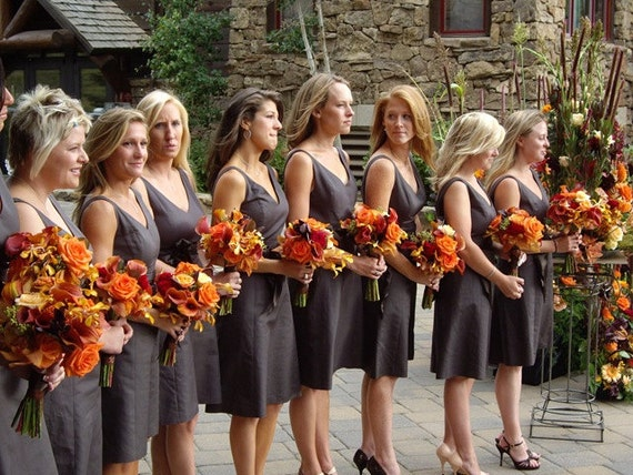 Items similar to the autumn sale wedding flowers bridal for Fall wedding bouquets for sale