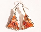 Crazy lace agate silver earrings