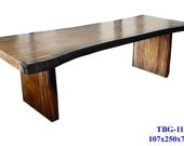 Solid Slab Wood Table Custom Sizes & Styles Available Dining Room Living Room