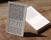 Custom Letterpress QR code Business Card and Graphic Design Package - 100qty