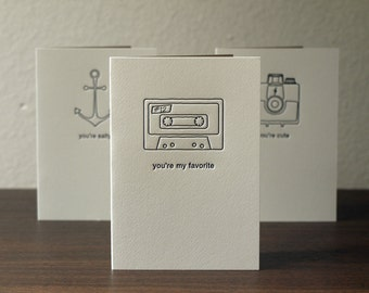 Letterpress Greeting Cards - Set of Three