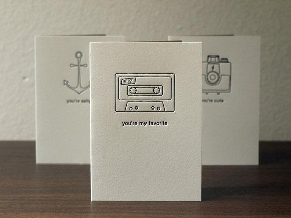 Letterpress Greeting Cards - Set of Three