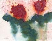 Tussocks - Original Watercolor - 4x6 inches