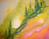 Pines of Terre Verte - Original Watercolor