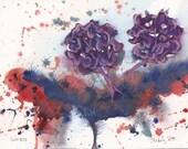 Gonzo - Original Watercolor - 4x6 inches