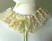 OOAK Victorian Crocheted Lace Collar Necklace