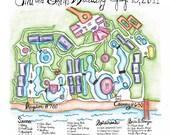 Custom Color Wedding Map