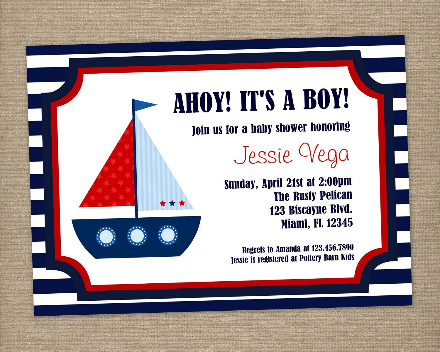 Etsy Nautical Baby Shower Invitations is luxury invitation sample