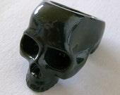 18mm Black Skull Ring,