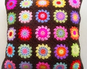 the candy in chocolatedip granny square cushion cover