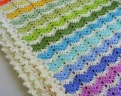 the rainbow ajour ripple baby blanket / afghan