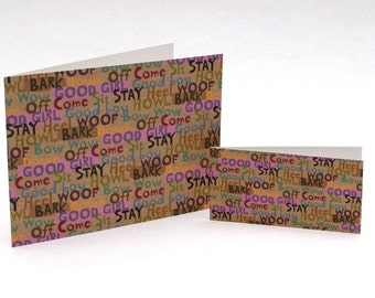 Good girl good boy greeting card 4x2 (pictured on right)