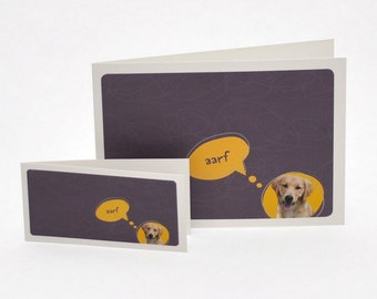 Aarf greeting card 4x2 (pictured on right)