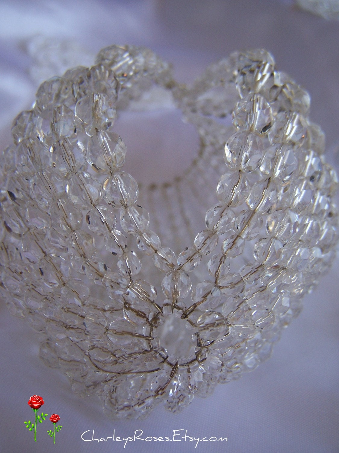 Chandelier light bulb cover glass beads - Chandelier glass beads ...