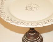 Dessert Pedestal Cake Stand by Precious Pedestals - White Distressed
