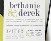 Modern Ampersand Wedding Invitation