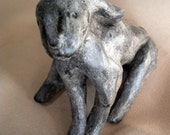 Pit Fired Clay Figure Rabbit Original One of a Kind Design Bunny