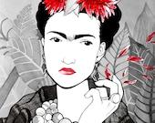 Frida Kahlo Portrait - A4 PRINT - Makissima