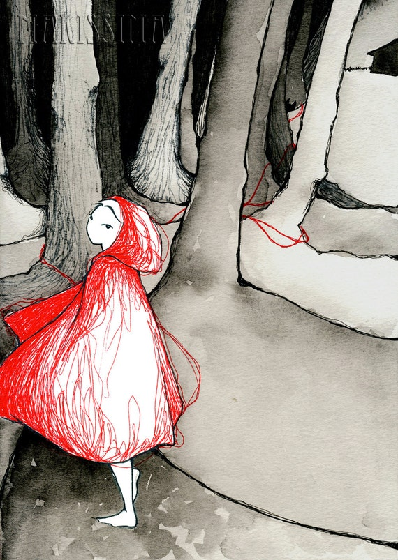 Little Red Riding Hood - small A5 PRINT - Makissima