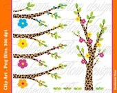 INSTANT DOWNLOAD - Trees 01 Digital Clipart collection 16 Png Elements transparent background Invitations decorations Print Your Own