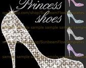 INSTANT DOWNLOAD - Princess shoes 01 clip art Png elements Digital Decoration Scrapbooking Scrap kit Invitations Aceo Atc Print Your Own DIY