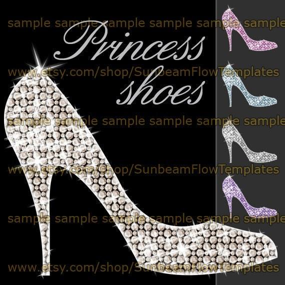 INSTANT DOWNLOAD Princess Shoes 01 Clip Art Png Elements