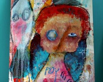 Sonya -- An original Nixie Mixed Media painting