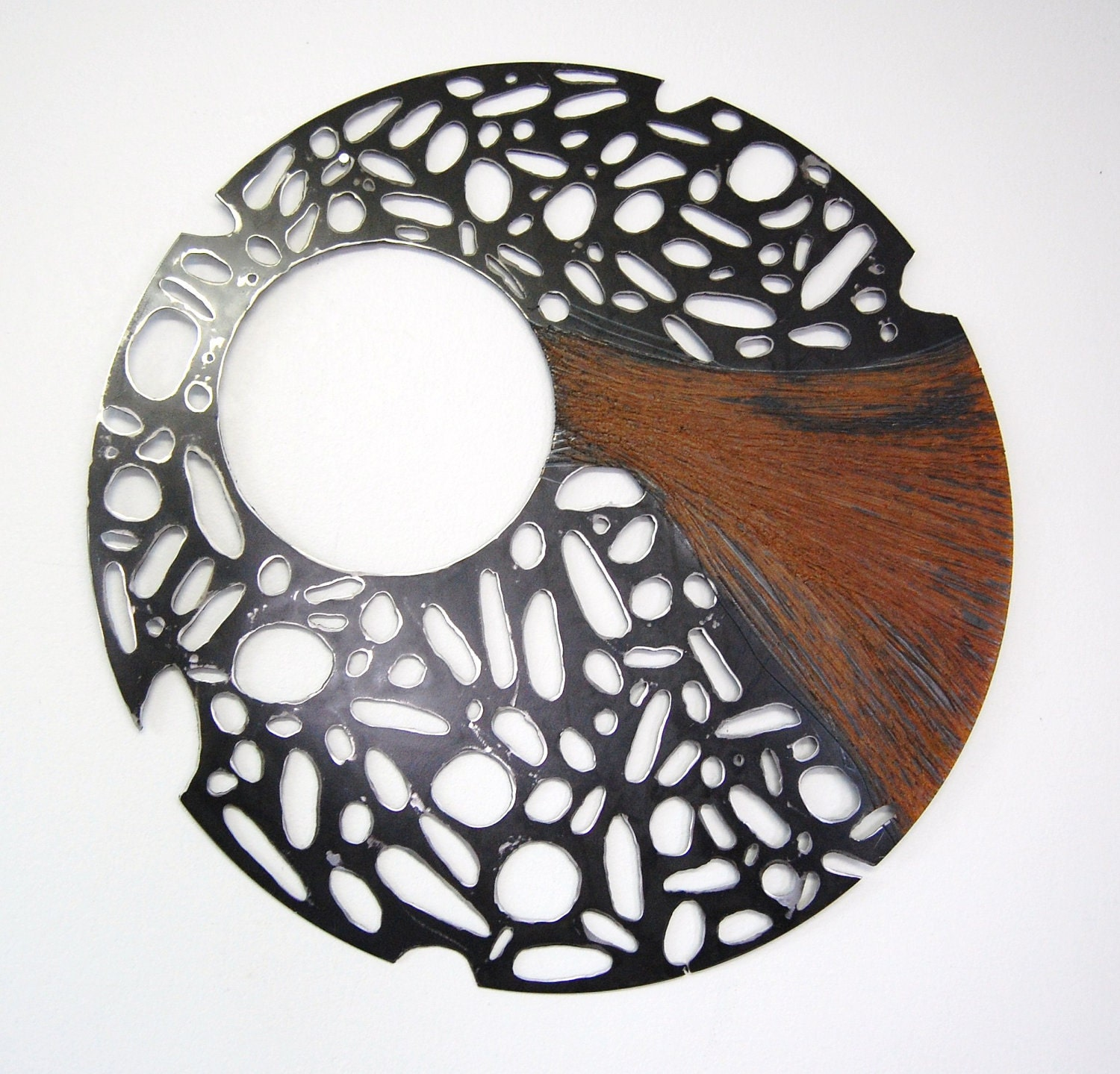 metal abstract wall art LARGE metal sculpture by NayaStudio