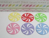 candy swirl Dollhouse miniature cake doilies 6 pcs for bakery display and decoration with miniature sweets and cookies