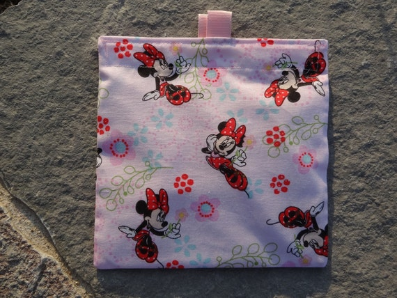Minnie Mouse- SET of 2 -Reusable Sandwich and Snack Bags