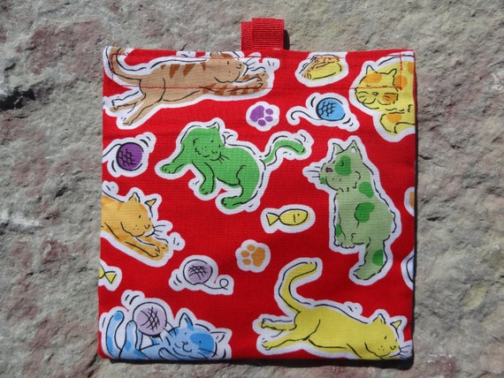 Cats- SET of 2 -Reusable Sandwich and Snack Bags