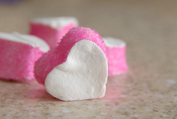 Valentine's Day Pink Vanilla Heart Marshmallows, one dozen