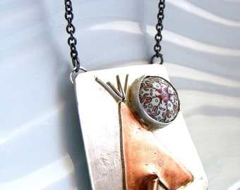 Teepee Under the Paisley Moon Necklace