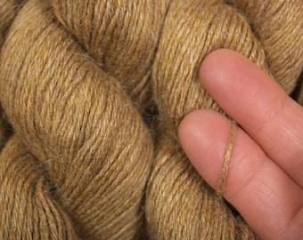 Dark Wheat Silk Rayon Alpaca Cashmere Recycled Yarn, SBL00088