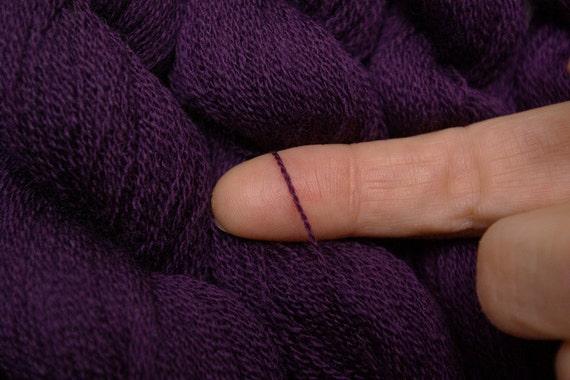 Recycled Yarn, Extra Fine Merino, Blackberry, 390 yards