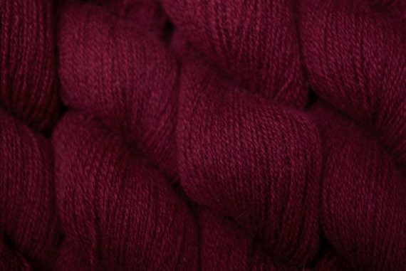 Recycled Yarn, Plum Wine Cashmere Lace Weight, 331 Yards