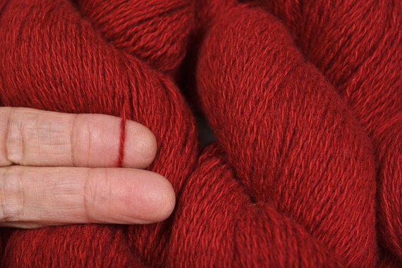 Paprika recycled yarn cashmere cotton 471 yards
