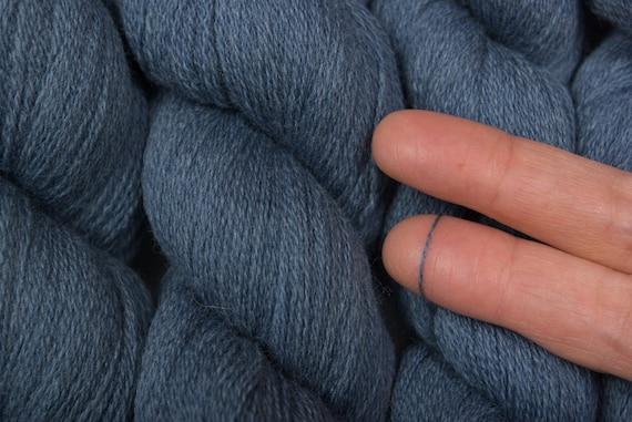 Recycled Yarn Heather Gray Blue Extra Fine Merino 1000 yards