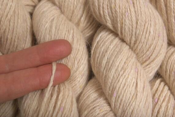 Recycled Yarn Oatmeal Merino Angora 150 Yards