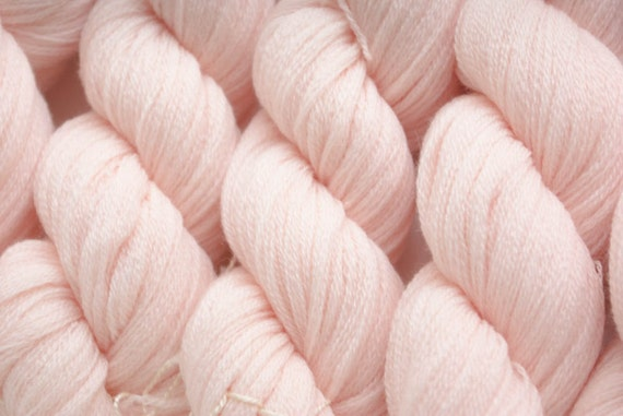 Recycled Yarn, Seashell Pink  Extra Fine Merino, 862 yards