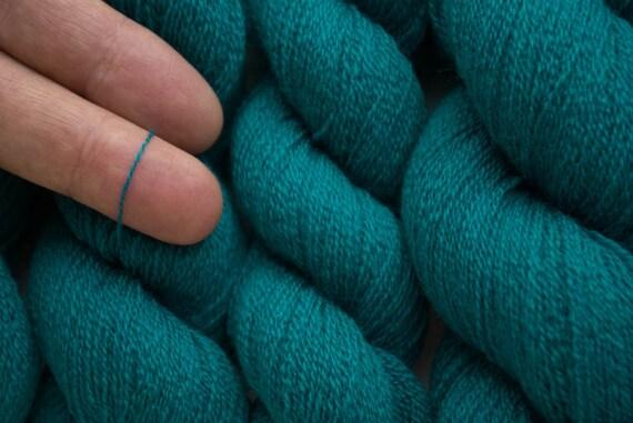 Recycled Yarn, Teal Duck Extra Fine Merino Yarn, 602 yards