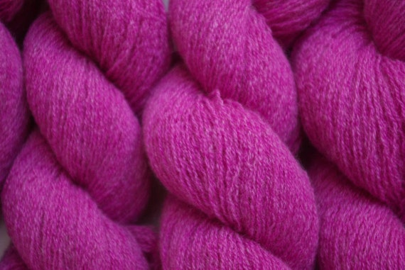 Recycled Yarn Violet Two Lace Weight Cashmere 693 Yards
