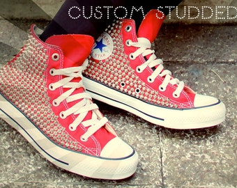 Studded Converse High Top (All 4 Sides Studded)